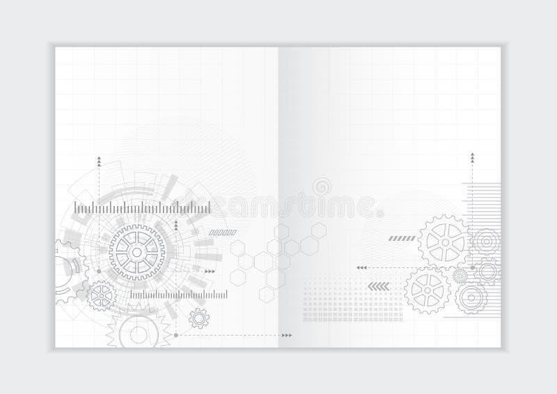 Абстрактный шаблон годового отчета предпосылки, геометрическая крышка брошюры дела дизайна треугольника стоковые фотографии rf