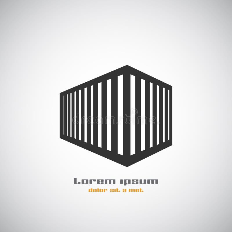 Абстрактный шаблон дизайна логотипа вектора силуэта здания архитектуры Значок темы дела недвижимости небоскреба иллюстрация вектора