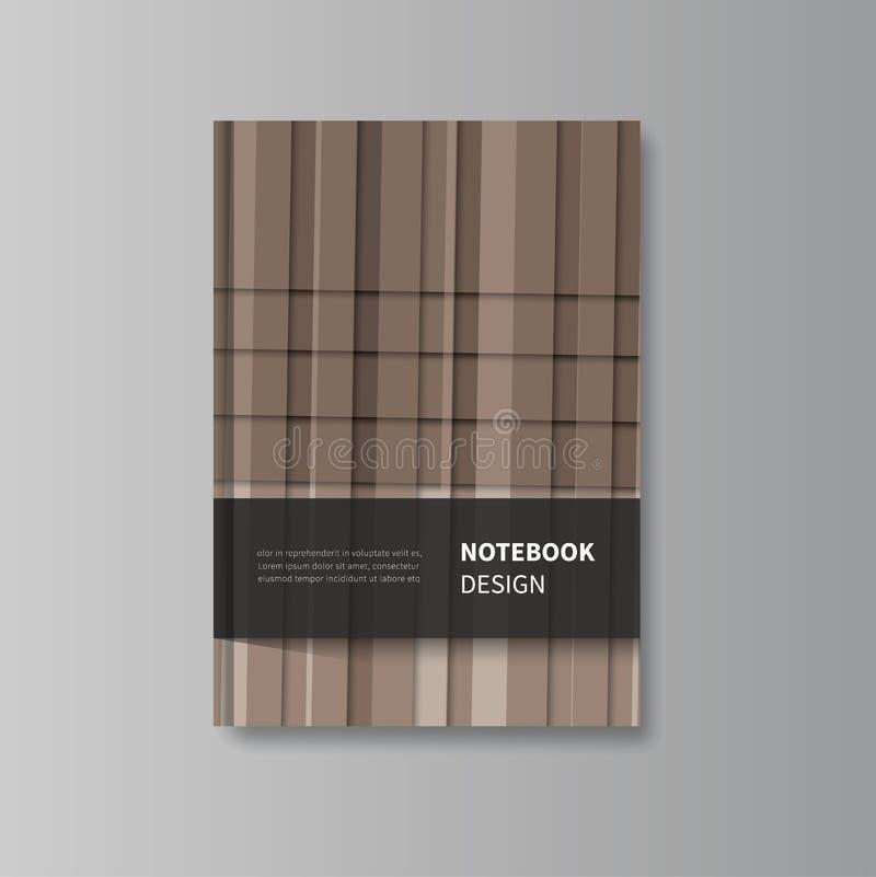 Абстрактный шаблон дизайна тетради иллюстрация вектора