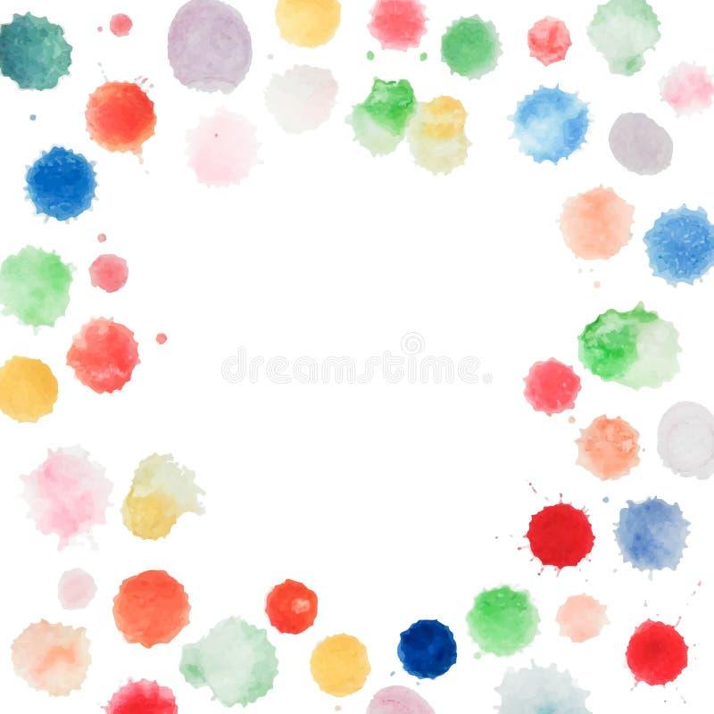 Абстрактный шаблон цвета воды бесплатная иллюстрация