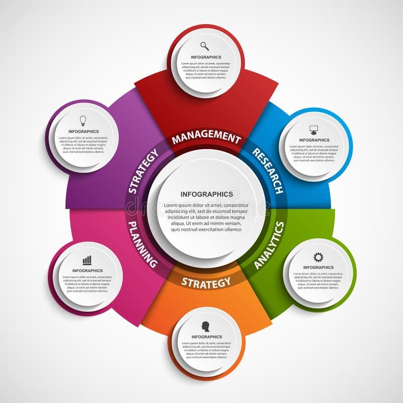Абстрактный шаблон infographics вариантов Infographics для знамени представлений или данных по дела иллюстрация штока