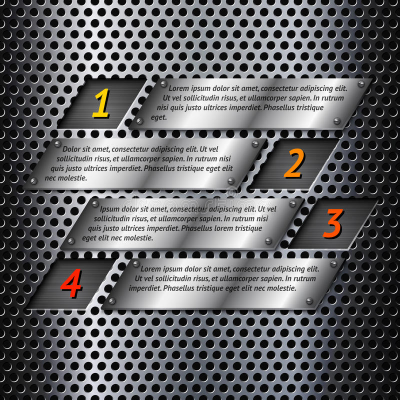 Абстрактный шаблон infographics металла