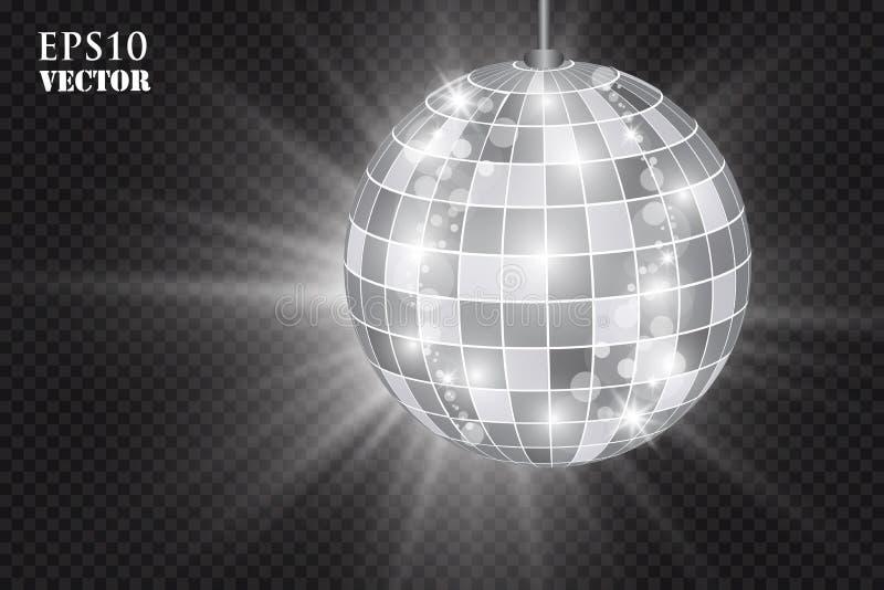 Абстрактный шарик диско серебра предпосылки бесплатная иллюстрация