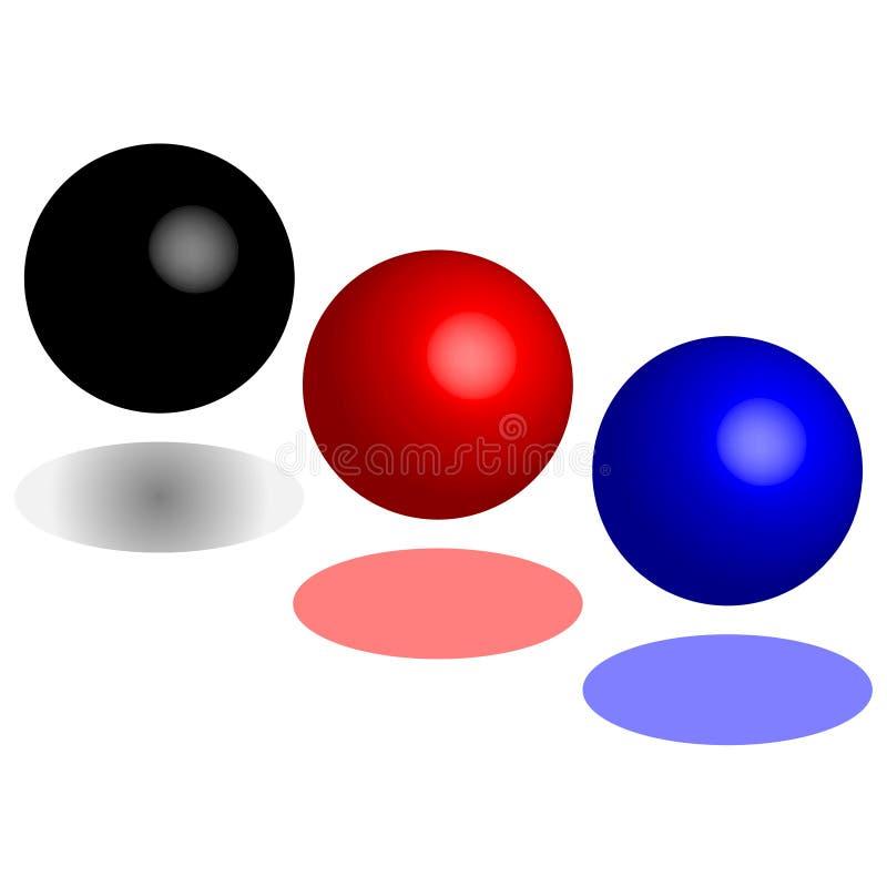 Абстрактный шарик изолированный на белой предпосылке иллюстрация вектора
