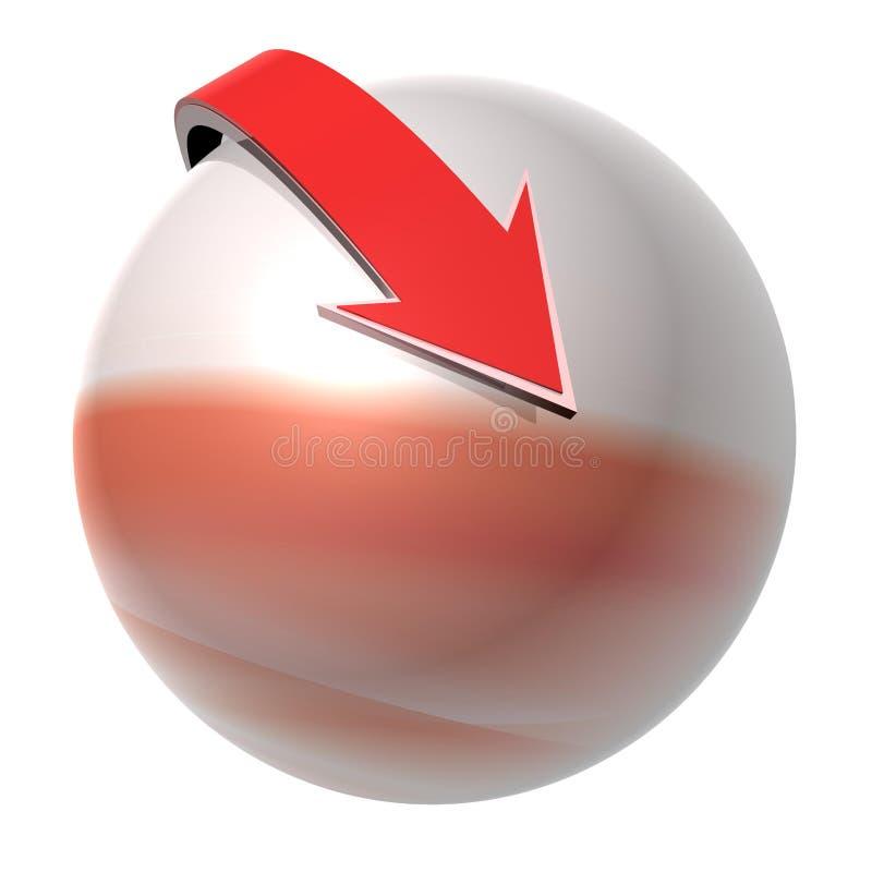 абстрактный шарик иллюстрация штока