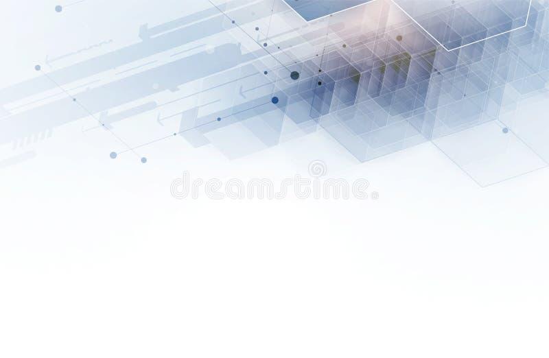 абстрактный шестиугольник предпосылки Дизайн технологии полигональный Digita иллюстрация вектора