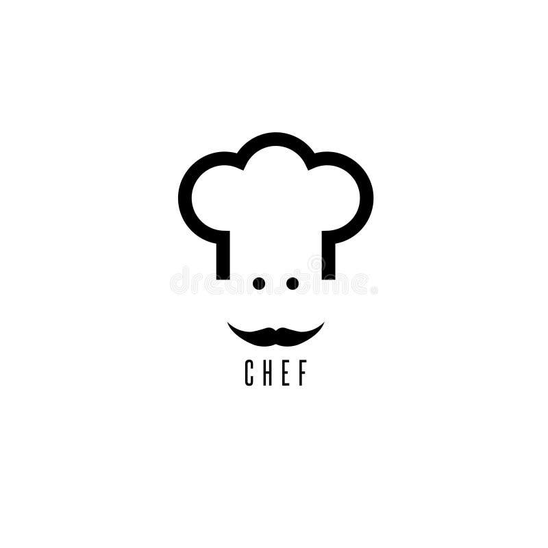 Абстрактный шеф-повар с дизайном вектора усика бесплатная иллюстрация