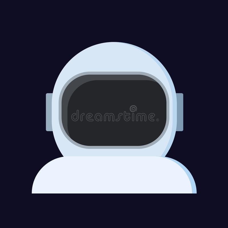 Абстрактный шлем астронавта, вектор изолировал плоский значок иллюстрация штока
