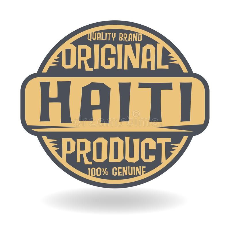 Абстрактный штемпель с продуктом текста первоначально Гаити иллюстрация вектора