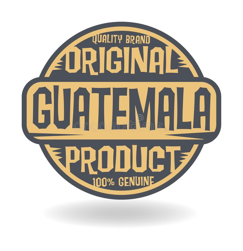 Абстрактный штемпель с продуктом текста первоначально Гватемалы бесплатная иллюстрация