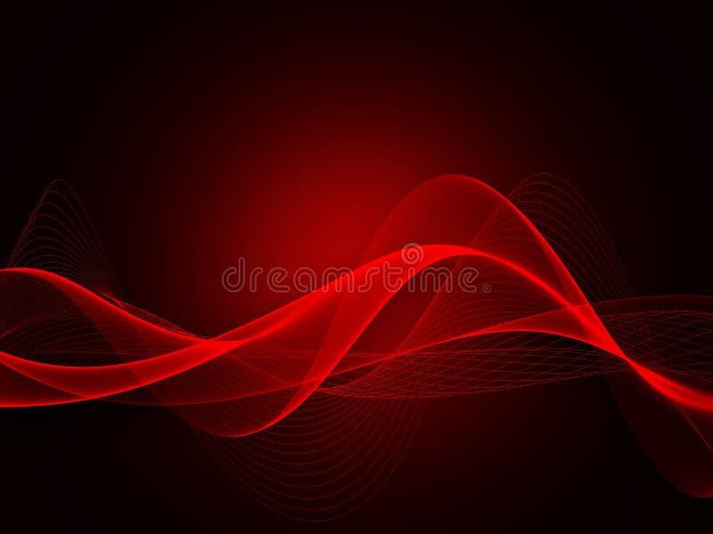 Абстрактный элемент волны для дизайна Выравниватель следа частоты цифров стоковое изображение