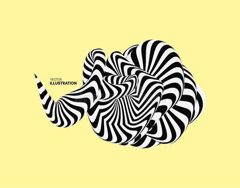 Абстрактный элемент дизайна Оптически искусство r бесплатная иллюстрация