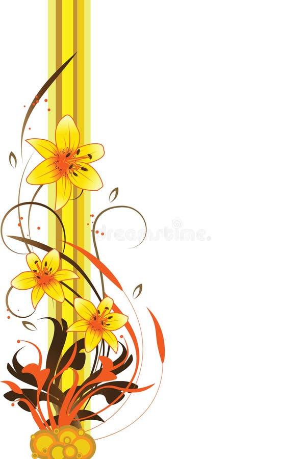 абстрактный элемент конструкции предпосылки флористический иллюстрация штока