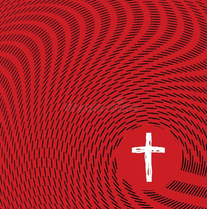 Абстрактный эскиз развевает окружая христианская перекрестная иллюстрация бесплатная иллюстрация