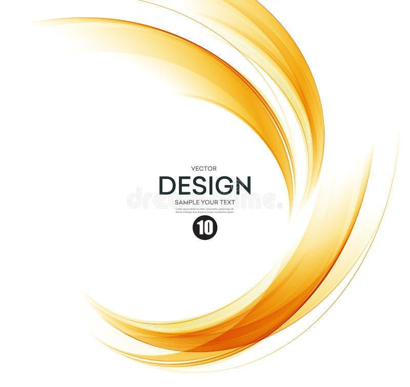 Абстрактный элемент дизайна волны цвета иллюстрация вектора