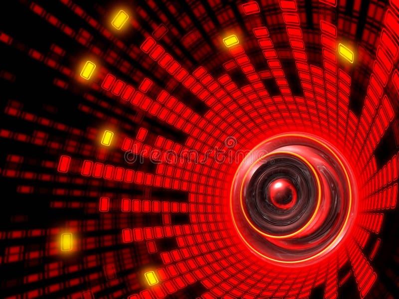 абстрактный ядровый диктор иллюстрация штока