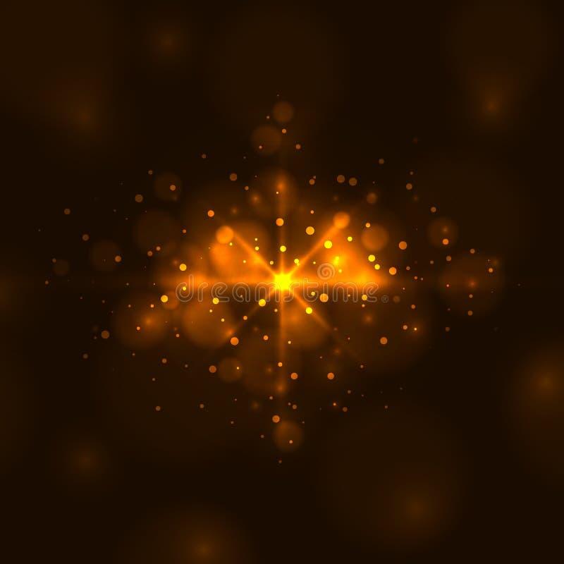 Абстрактный яркий оранжевый свет иллюстрация вектора