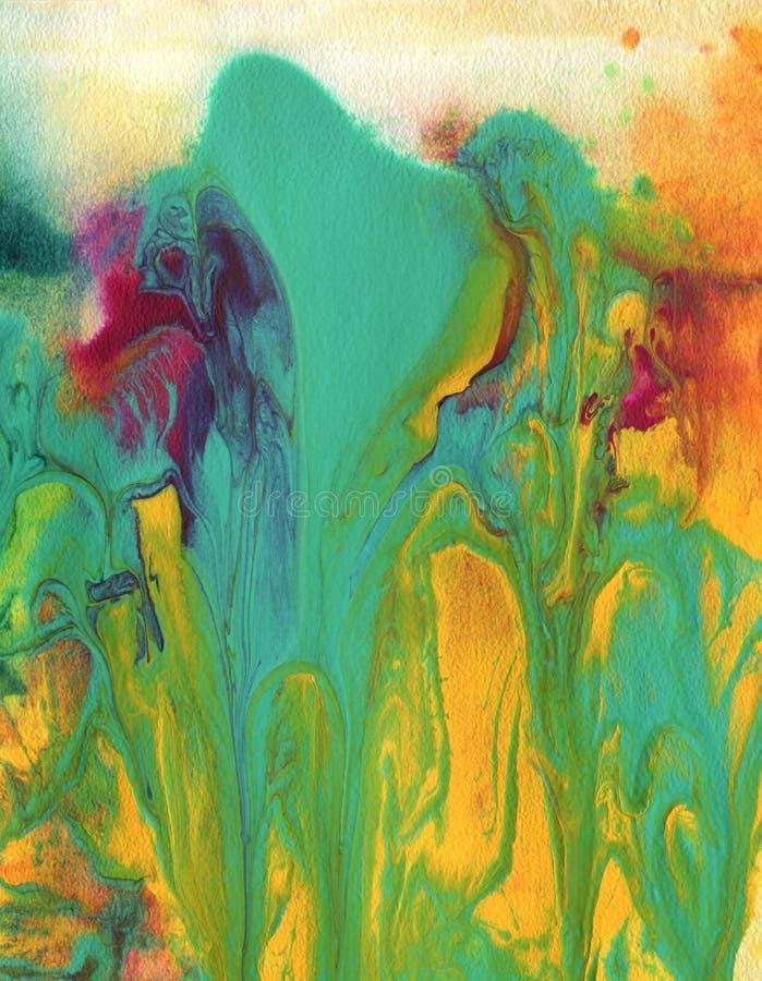 Абстрактный acrylic и покрашенная акварелью предпосылка бесплатная иллюстрация