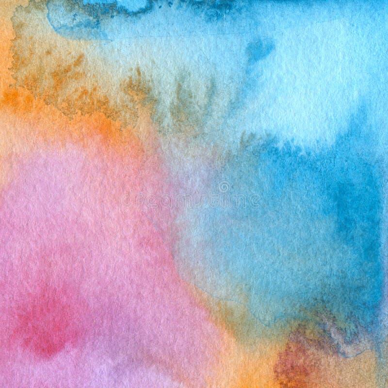 Абстрактный acrylic и покрашенная акварелью предпосылка стоковое изображение