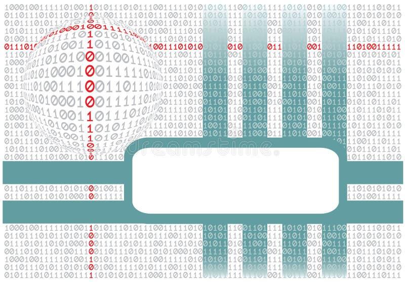 абстрактный binary предпосылки иллюстрация вектора