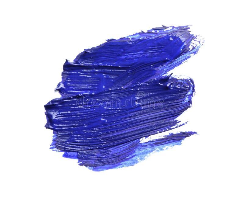 Абстрактный brushstroke голубой краски изолированный на белизне иллюстрация штока