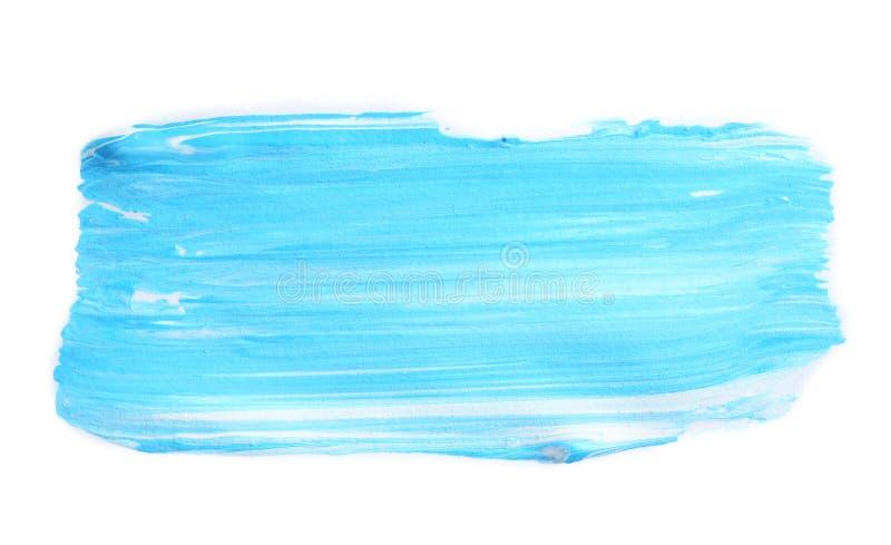 Абстрактный brushstroke голубой краски иллюстрация штока