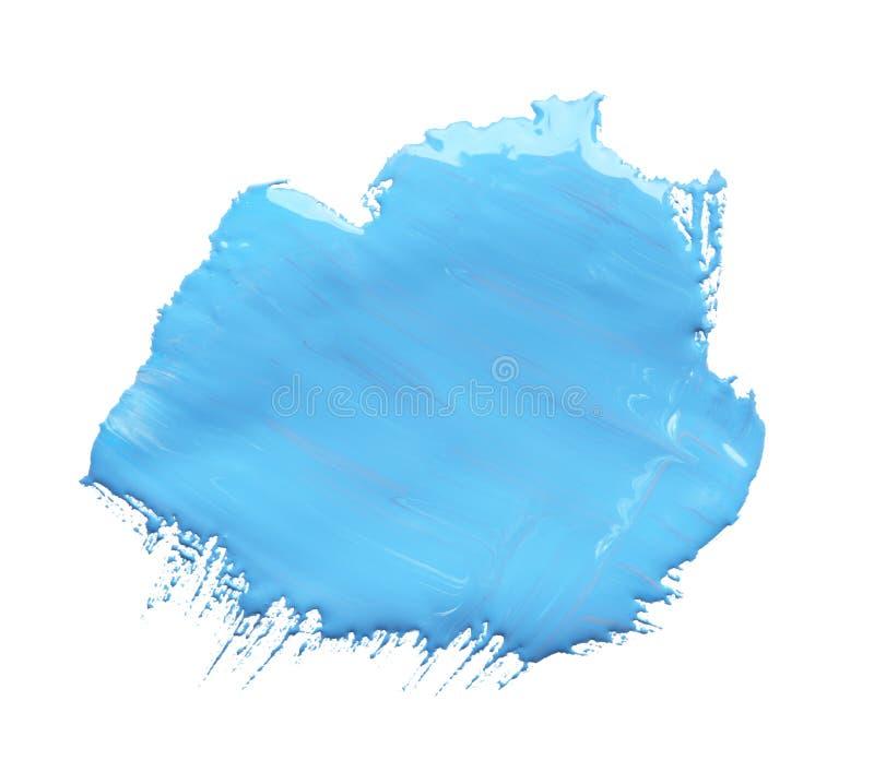 Абстрактный brushstroke голубой краски бесплатная иллюстрация