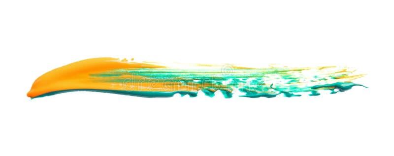Абстрактный brushstroke смешанной краски цвета иллюстрация штока