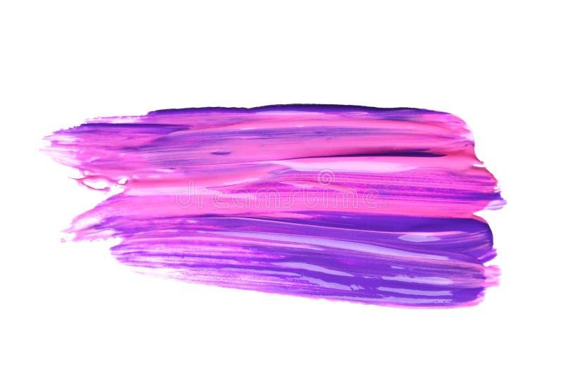 Абстрактный brushstroke фиолетовой краски изолированный на белизне бесплатная иллюстрация
