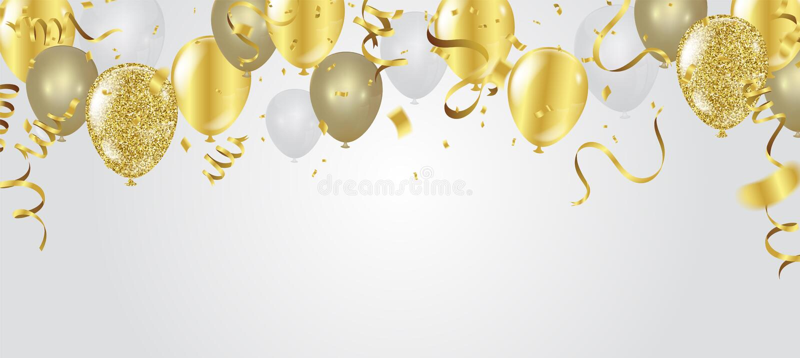 Абстрактный confetti золота торжества партии предпосылки на белом bac бесплатная иллюстрация