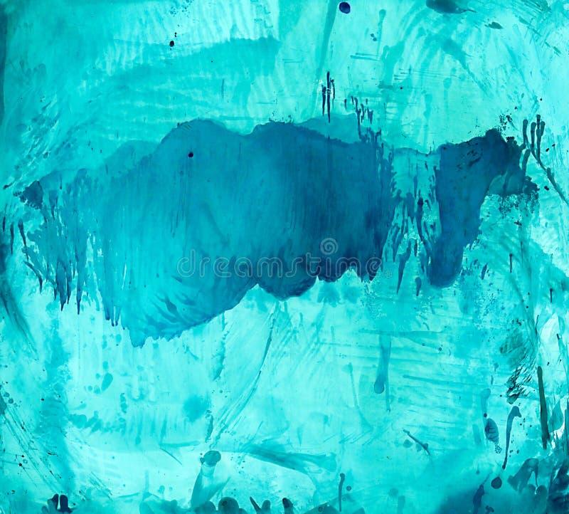 Абстрактный cyan голубой smudge бесплатная иллюстрация