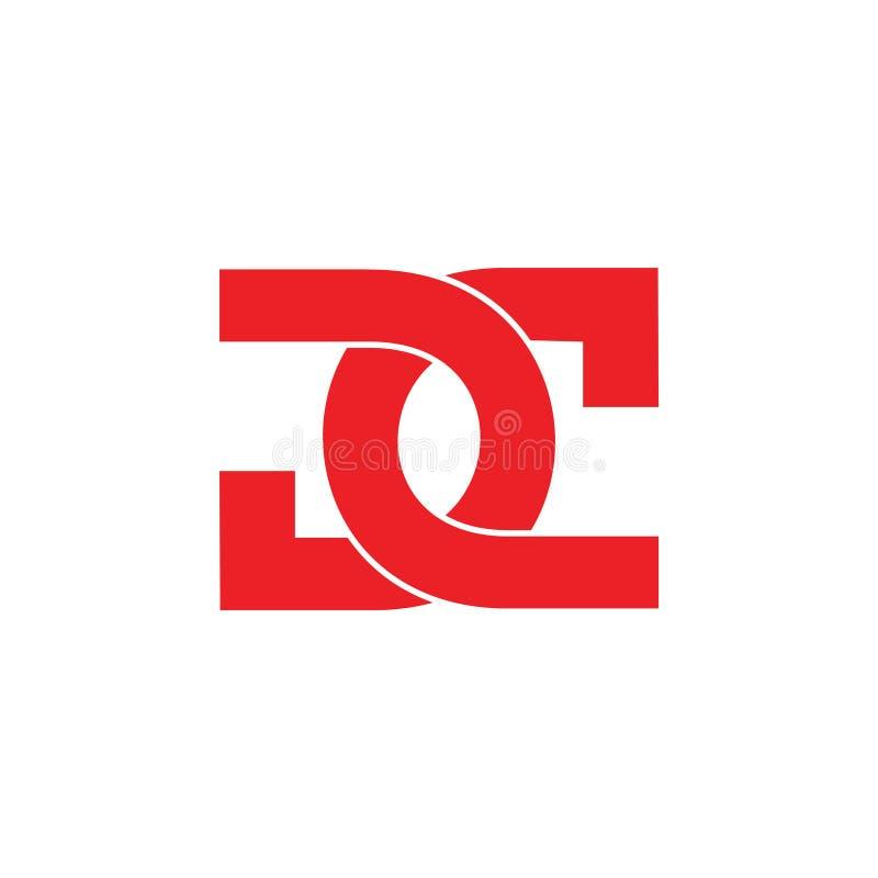 Абстрактный dc письма соединил вектор логотипа перекрытия простой иллюстрация штока