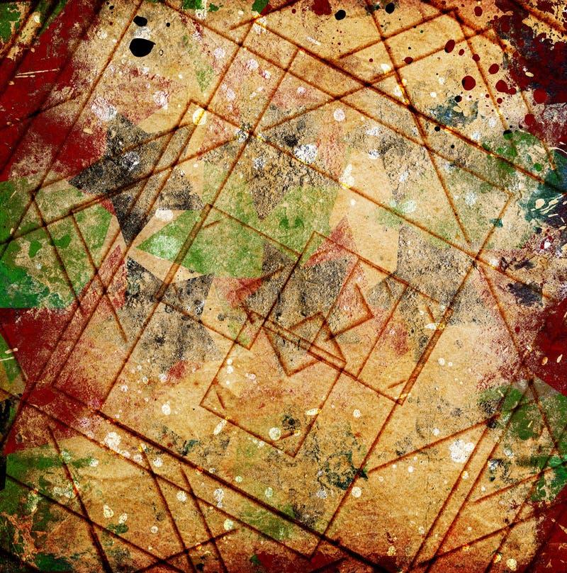 Абстрактный grunge придает квадратную форму предпосылке стоковое фото