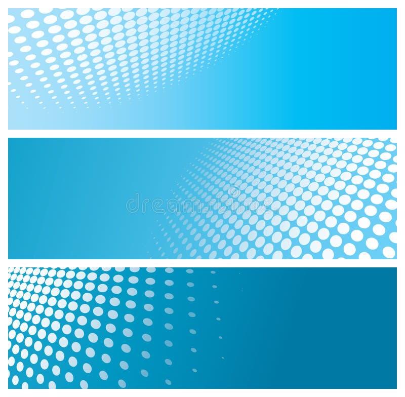 абстрактный halftone знамен иллюстрация вектора