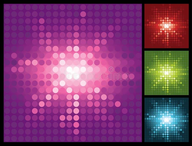 абстрактный halftone предпосылки освещает sunburst иллюстрация штока
