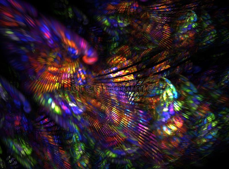 абстрактный hippie цвета предпосылки иллюстрация вектора