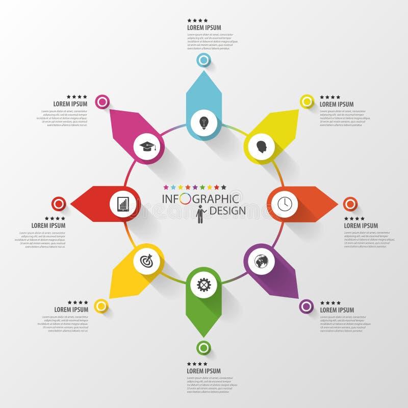 Абстрактный infographic круг шаблон конструкции дела вектор иллюстрация штока