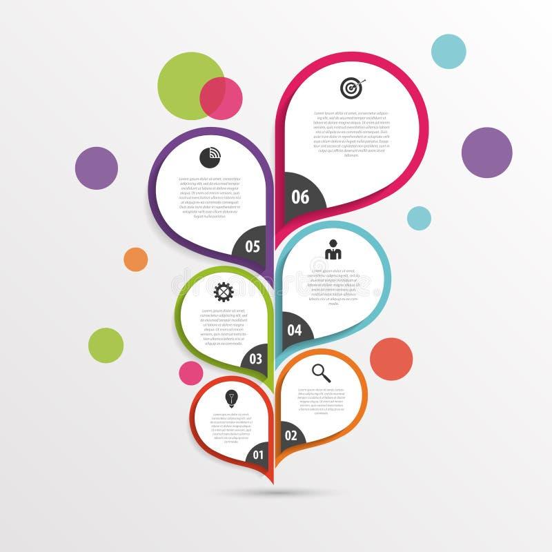Абстрактный infographic шаблон цветка цветасто вектор иллюстрация штока
