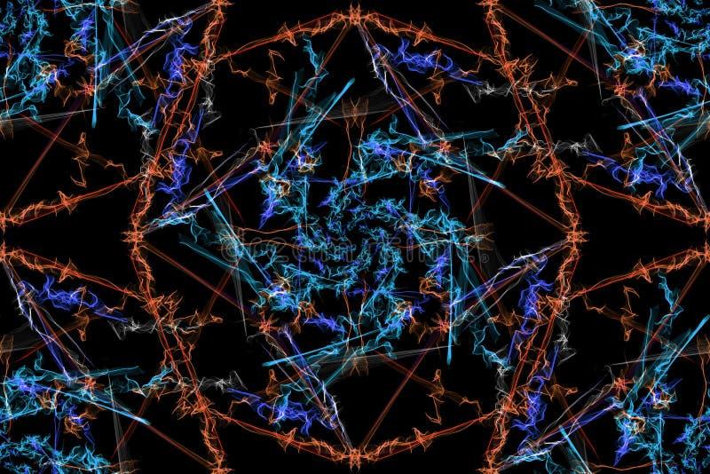 абстрактный kaleidoscope предпосылки безшовная текстура бесплатная иллюстрация