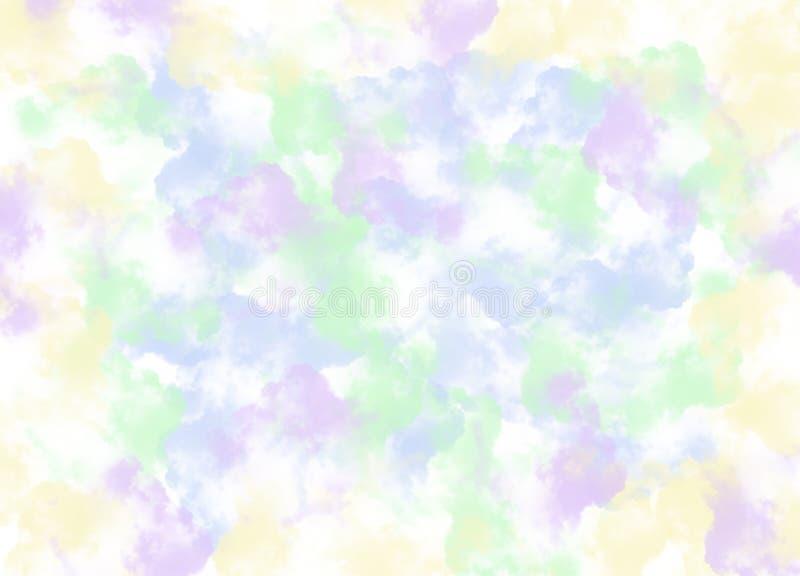 Абстрактный Multi цвет кисти штрихует предпосылку иллюстрация вектора