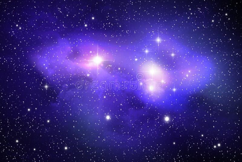 абстрактный nebula предпосылки иллюстрация штока