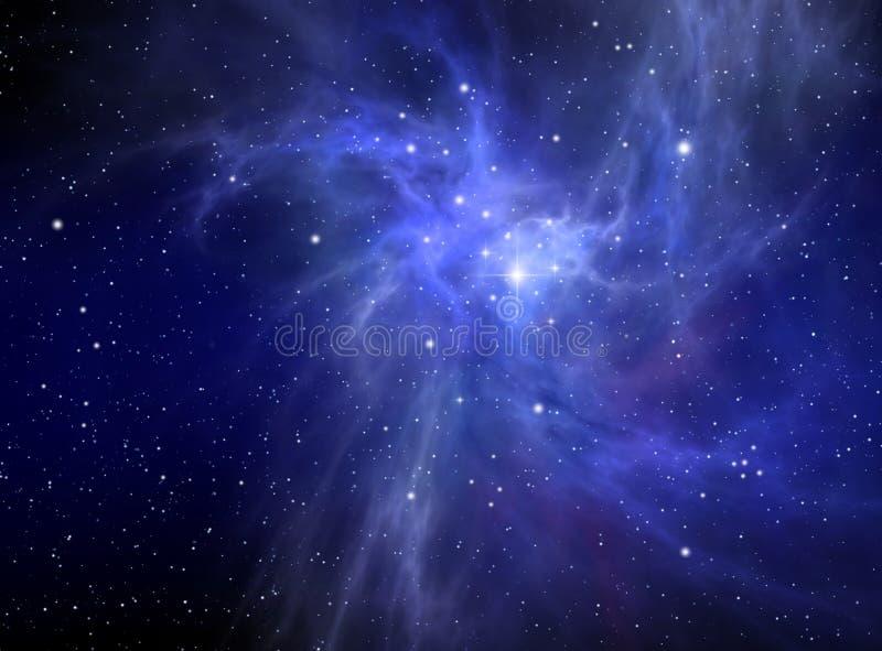 абстрактный nebula предпосылки иллюстрация вектора