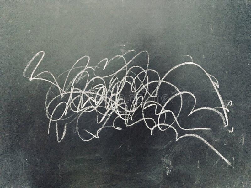 Абстрактный Scribble на классн классном стоковая фотография rf
