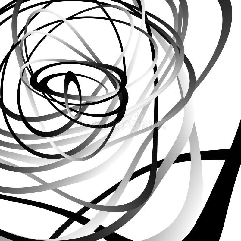 Download Абстрактный Squiggle, Squiggly, Curvy линии Monochrome геометрический P Иллюстрация вектора - иллюстрации насчитывающей свободно, картина: 81810636
