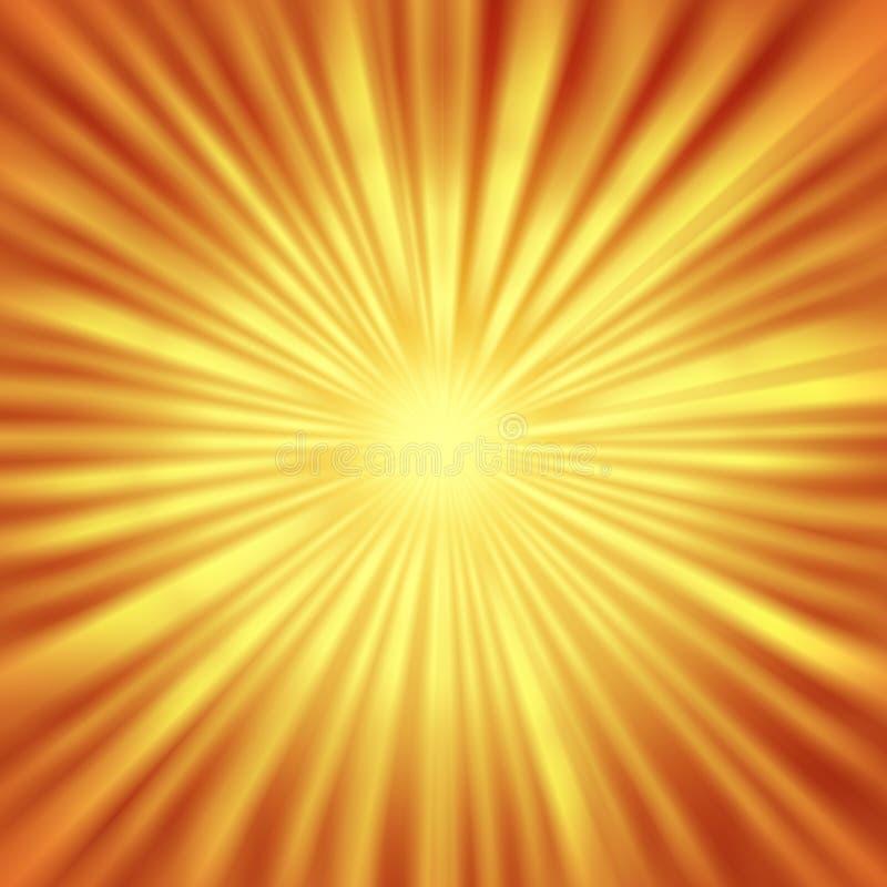 Абстрактный Sunburst с радиальными яркими лучами иллюстрация вектора