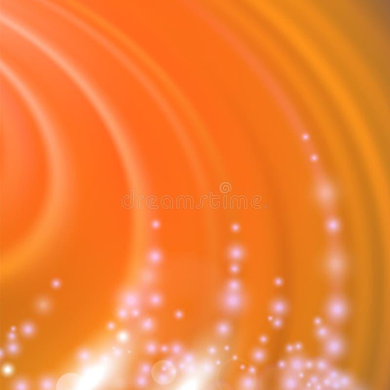Абстрактным запачканная апельсином предпосылка волны бесплатная иллюстрация