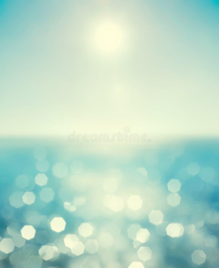 Абстрактным запачканная морем предпосылка лета стоковые изображения rf
