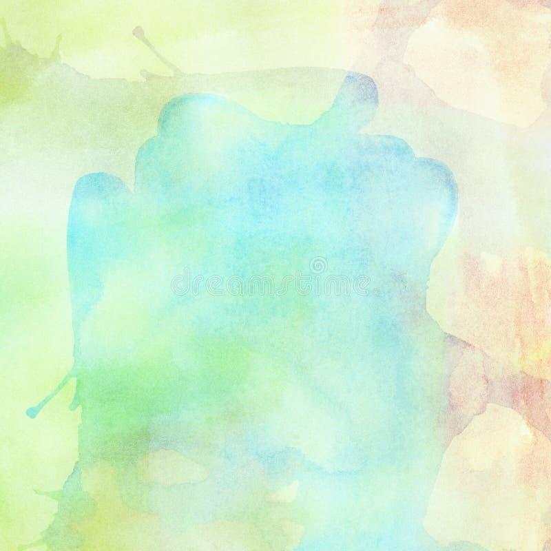 Абстрактным красочным акварель покрашенная светом брызгает предпосылку иллюстрация штока