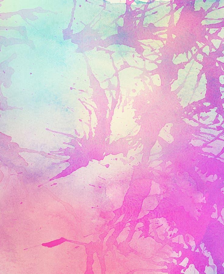 Абстрактным красочным акварель покрашенная светом бесплатная иллюстрация