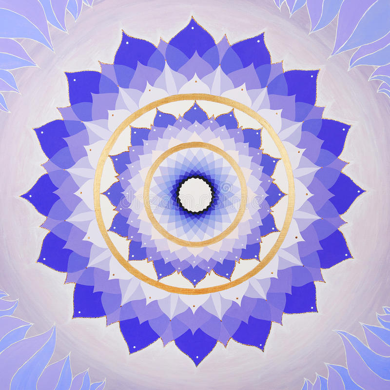 Абстрактным покрашенная пурпуром мандала изображения  иллюстрация вектора